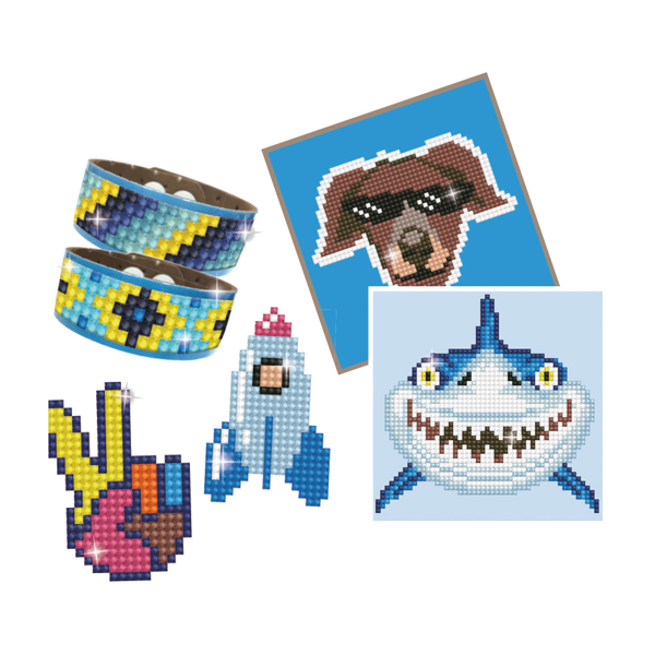 DTZ10.002 DIAMOND DOTZ® - DOTZIES® - BOY VARIETY KIT 6 projects - BLUE