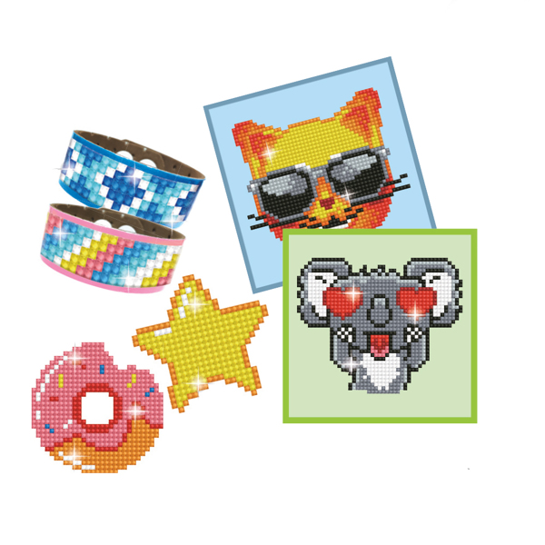 DTZ10.003 Diamond Dotz® - DOTZIES VARIETY KIT 6 projects - GREEN