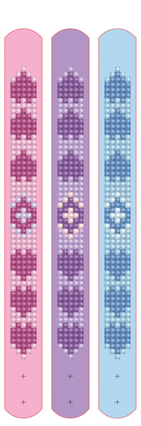 DDTZ11.006 Diamond Dotz® - Dotzies 3 Bracelets 21x2cm - Love