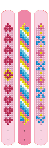 DDTZ11.008 Diamond Dotz® - Dotzies 3 Bracelets 21x2cm - Pinks