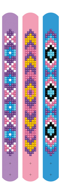 DDTZ11.011 Diamond Dotz® - Dotzies 3 Bracelets 21x2cm - Mauves