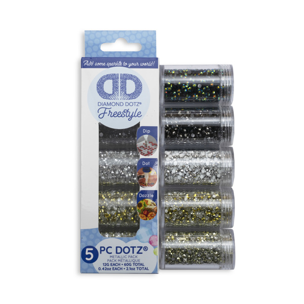 DDA.014 DIAMOND DOTZ® - SAMPLER PACK Metallic (7002. 7004. 7005. 7007. 7009)