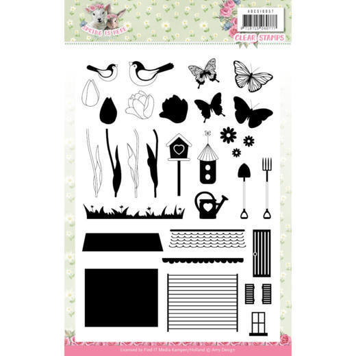ADCS10057 Clear Stamps - Amy Design - Spring is Here(#HJ168)