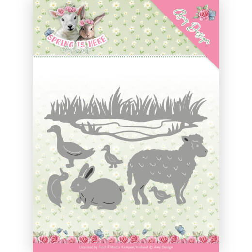 ADD10167 Dies - Amy Design - Spring is Here - Spring Animals(#HJ168)