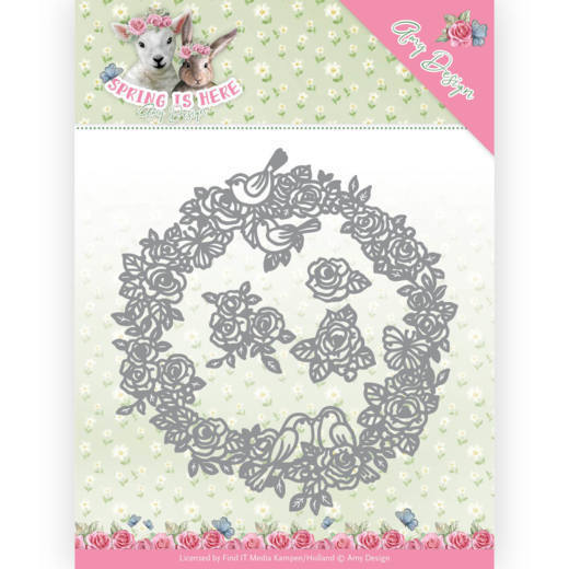 ADD10166 Dies - Amy Design - Spring is Here - Circle of Roses(#HJ168)