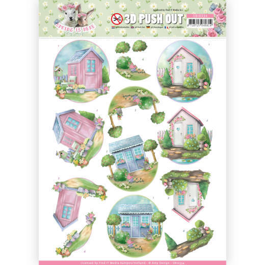 SB10334 3D Pushout - Amy Design - Spring is Here - Garden Sheds(#HJ168)