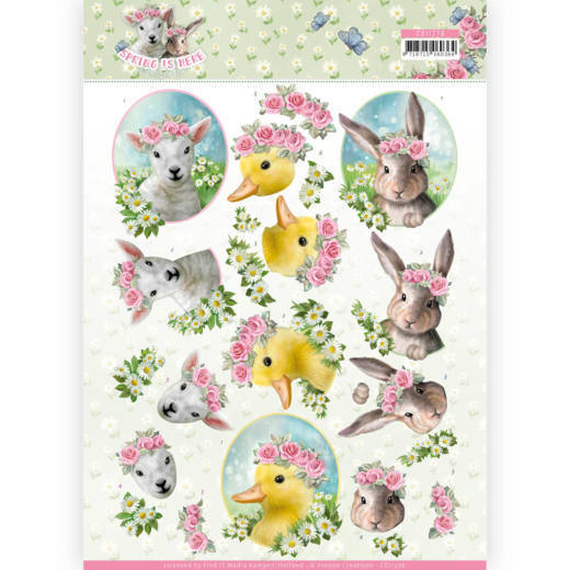 CD11276 3D Knipvel - Amy Design - Spring is Here - Baby Animals(#HJ168)