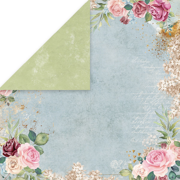 CP-FV01 FLOWER VIBES Scrapbooking single paper 12x12, 200gsm