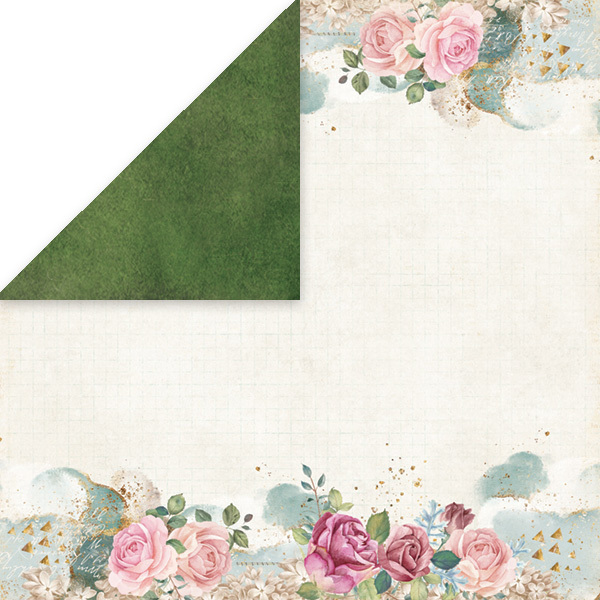 CP-FV02 FLOWER VIBES Scrapbooking single paper 12x12, 200gsm