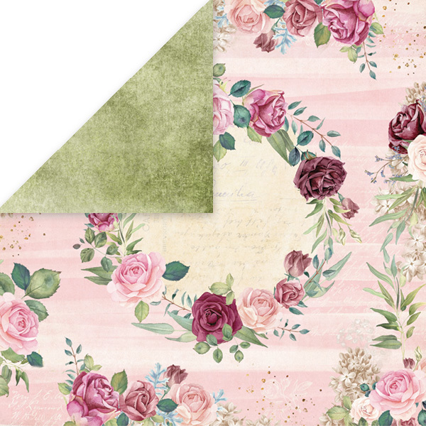 CP-FV05 FLOWER VIBES Scrapbooking single paper 12x12, 200gsm