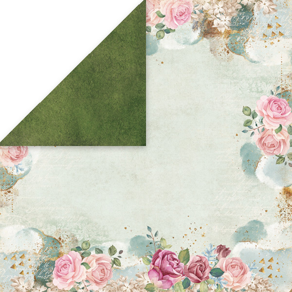 CP-FV06 FLOWER VIBES Scrapbooking single paper 12x12, 200gsm