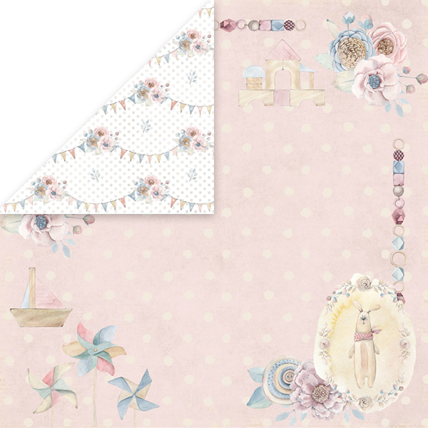 CP-BW03 Baby World Scrapbooking single paper 12x12, 200gsm