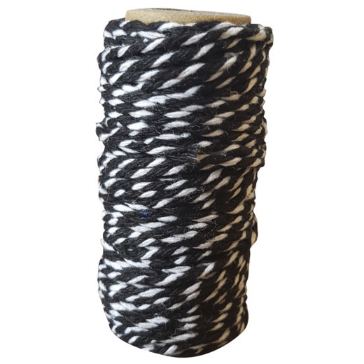 CDEBT001 Card Deco Essentials - Bakers Twine black/white
