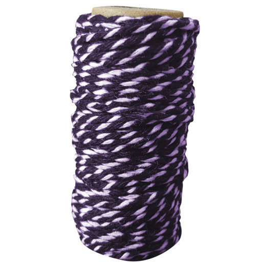 CDEBT002 Card Deco Essentials - Bakers Twine Purple/White