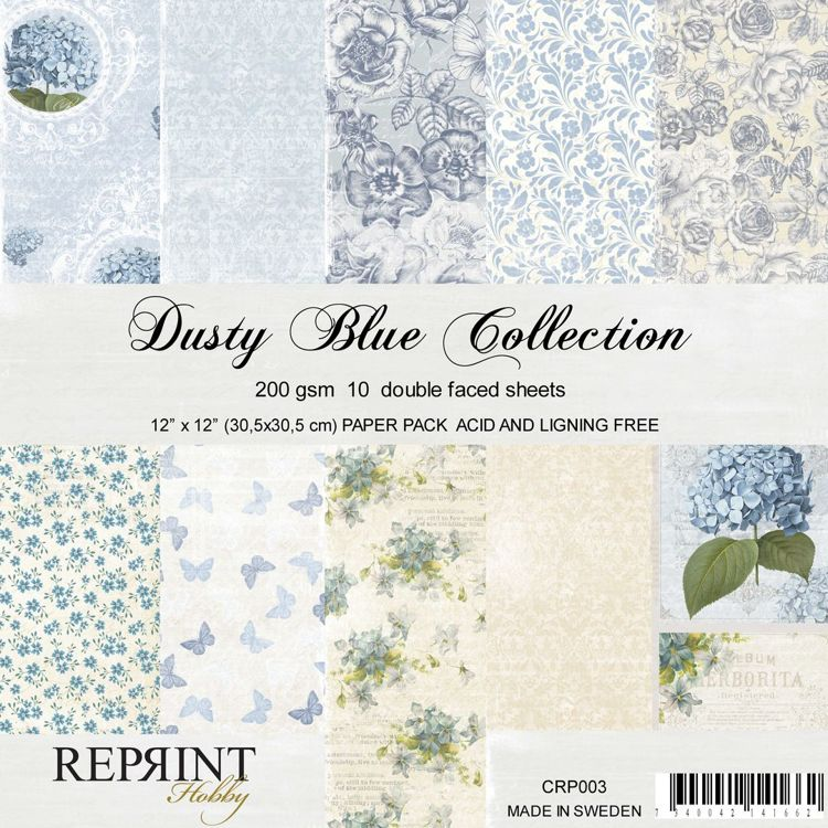 CRP003 Collection Dusty Blue 10 sheets