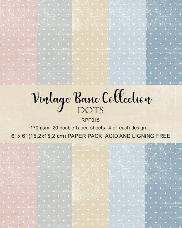 RPP015 Paper pack 6x6 Dots Basic collection 20pcs
