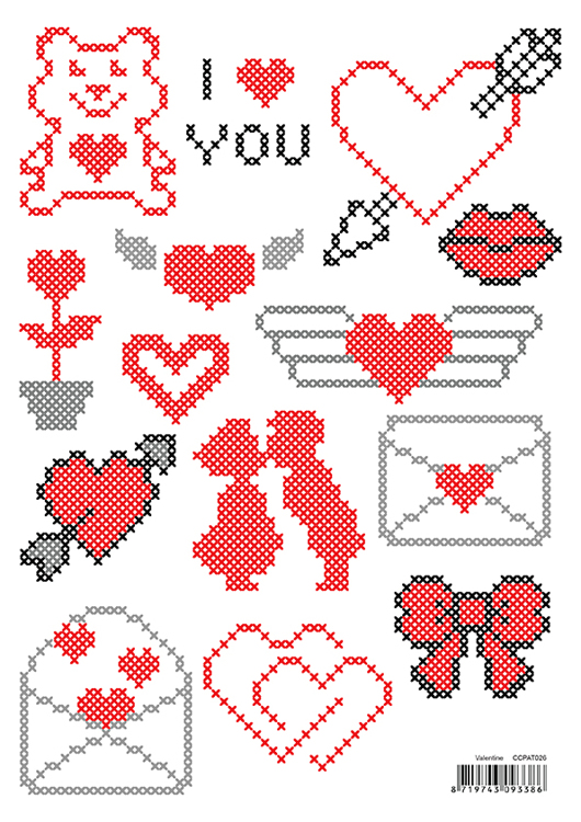 "CCPAT026 CrossCraft Patterns-26 ""Valentine"""