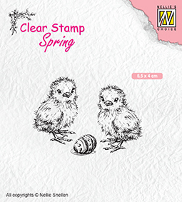 "SPCS008 Clear Stamps Spring ""Chickern and Easter egg"""