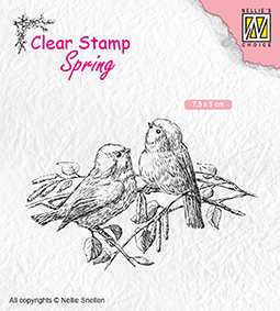 "SPCS011 Clear Stamps Spring ""two birds"""