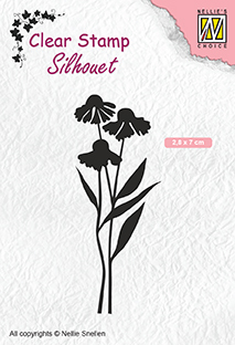 "SIL054 Clear Stamps silhouet ""Daisies"""