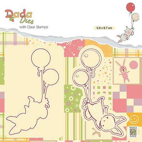 "DDCS005 DADA set Die with clear stamp ""balloon flight"""