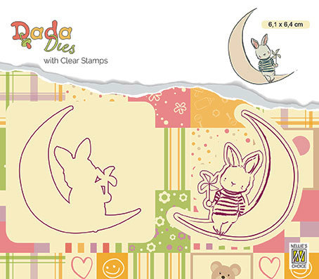 "DDCS007 DADA set Die with clear stamp ""moon"""
