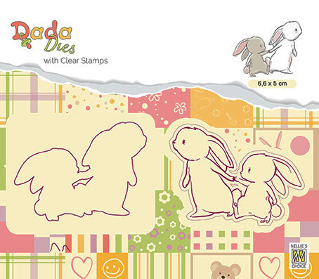 "DDCS008 DADA set Die with clear stamp ""walking with mama"""