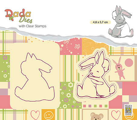 "DDCS009 DADA set Die with clear stamp ""hugs"""