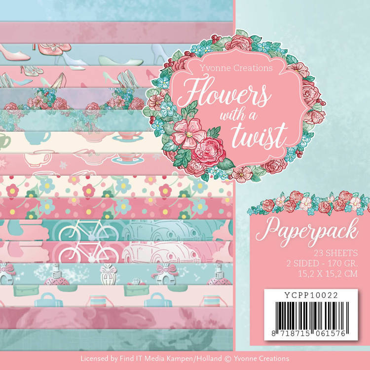 YCPP10022 Paperpack - Yvonne Creations - Flowers with a Twist(#HZ01902)