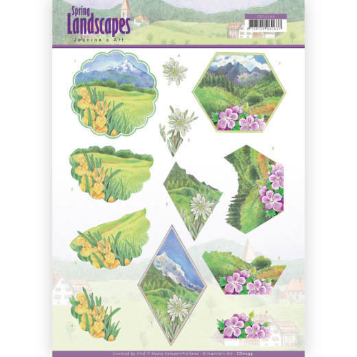 CD11293 3D knipvel - Jeanine's Art - Spring Landscapes - Mountains(#HJ169)