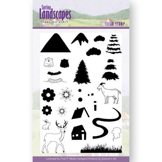 JACS10026 Clear Stamps - Jeanines Art- Spring Landscapes Mountains(#HJ169)