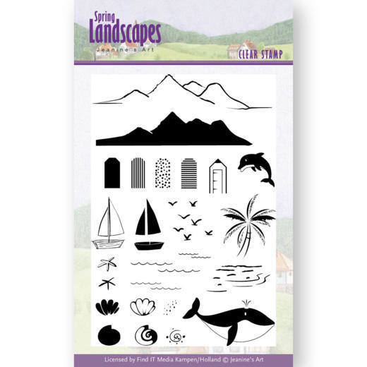 JACS10027 Clear Stamps - Jeanines Art- Spring Landscapes Sea(#HJ169)