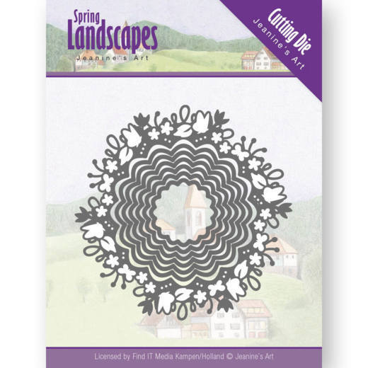 JAD10064 Dies - Jeanine's Art - Spring Landscapes - Spring Scalloped Circle(#HJ169)