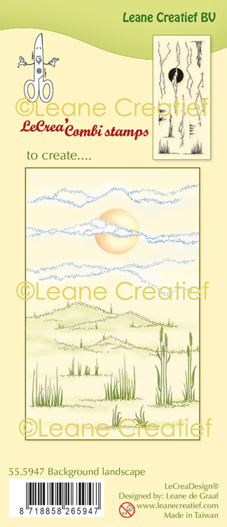 55.5947 LeCreaDesign® clear stamp Landschap achtergrond(#1902)