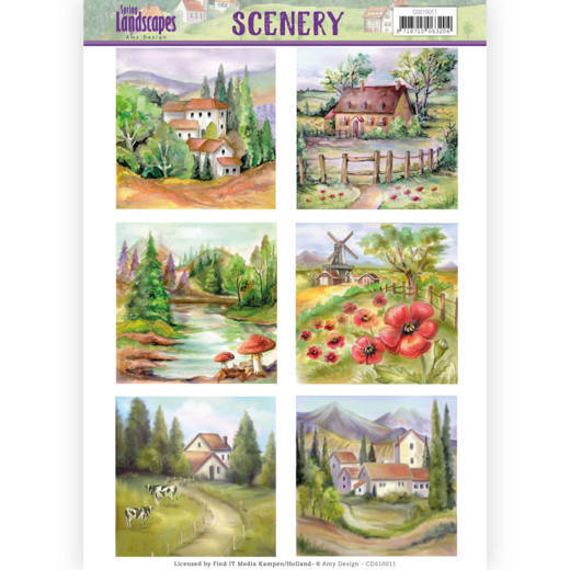 CDS10011 Die Cut Topper - Scenery  Amy Design - Spring Landscapes 2(#HJ169)