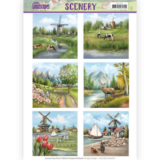 CDS10010  Die Cut Topper - Scenery - Amy Design - Spring Landscapes 1(#HJ169)