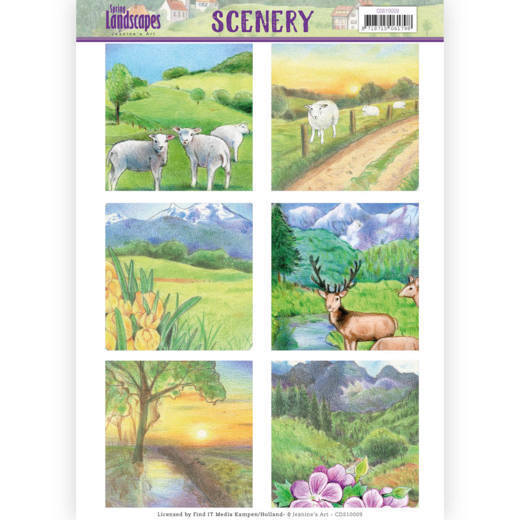 CDS10009 Die Cut Topper - Scenery  Jeanines Art - Spring Landscapes 2(#HJ169)