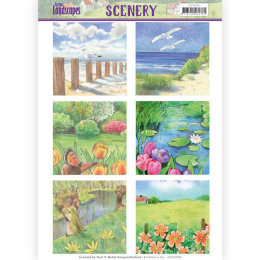 CDS10008 Die Cut Topper - Scenery  Jeanines Art - Spring Landscapes 1(#HJ169)