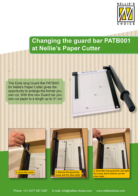PATB001 Extended guard bar for PAT001, suitable for cutting scrapbook paper