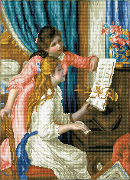 DD12.034 Diamond Dotz® - 48x66cm Girl's at the Piano (Renoir) (#19-04)