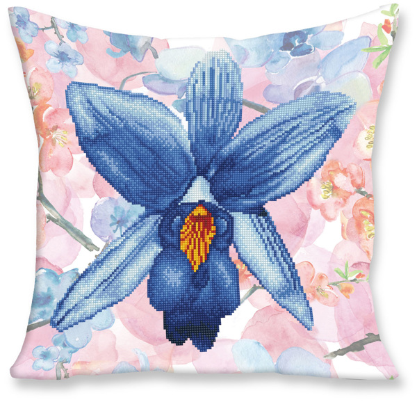 DD16.009 Diamond Dotz® - 45x45cm Pillow Kit Sparkle Garden Blue