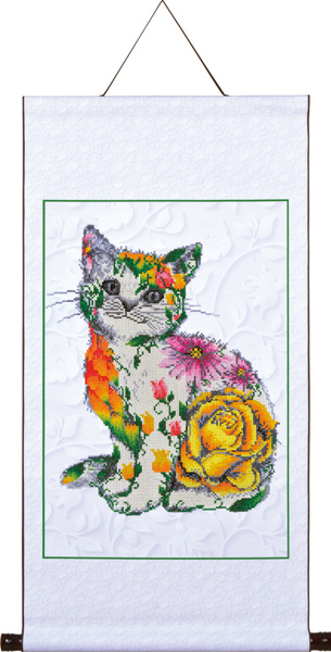 DD17.005 Diamond Dotz® - 41,4x61,2cm Flower Puss Scroll