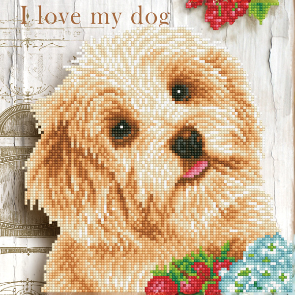 DD5.049 DIAMOND DOTZ® - 30.5x30.5cm - I Love my Dog