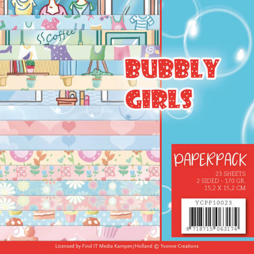 YCPP10023 Paperpack - Yvonne Creations - Bubbly Girls