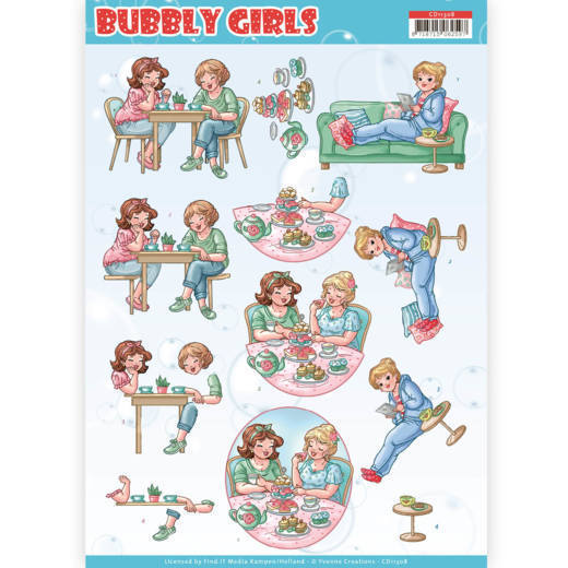 CD11308 3D Knipvel - Yvonne Creations- Bubbly Girls - Me Time