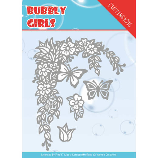 YCD10167 Dies - Yvonne Creations - Bubbly girls- Flower Corner