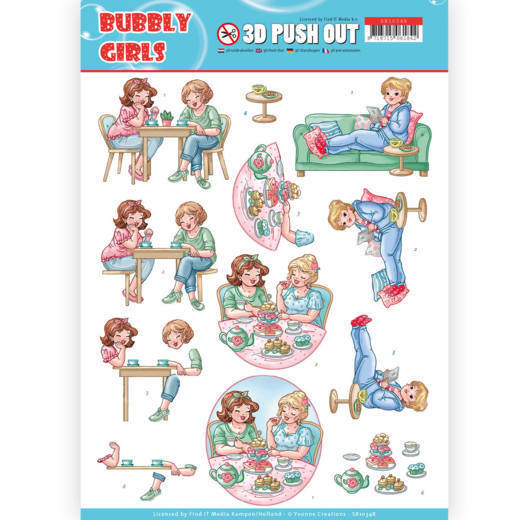 SB10348 Bubbly Girls 3D Pushout - Yvonne Creations- Bubbly Girls - Me Time