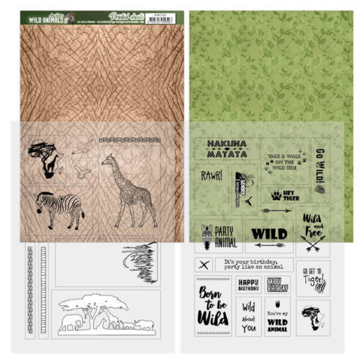 ADMC1001 Printed Sheets - Amy Design - Wild Animals(#HJ170)