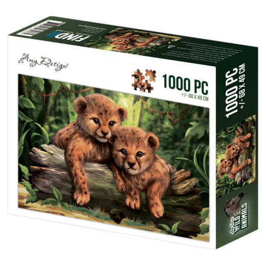 ADPZ1001 Puzzle 1000 pc - Amy Design - Wild Animals - Cubs(#HJ170)