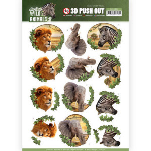 SB10351  3D Pushout - Amy Design - Wild Animals 2 - Africa(#HJ170)